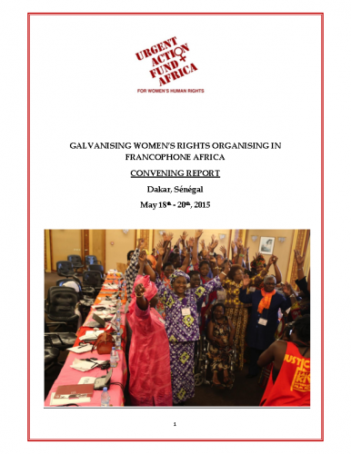 Galvanising Women's Rights Organising in Francophone Africa