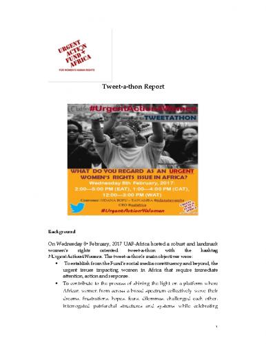 UAF Africa Tweet a thon Report