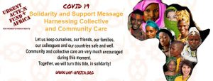COVID 19 Solidarity and Support Message Harnessing Collective and Community Care