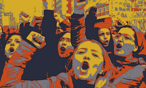 Turkish women chant slogans during a protest on the International Women's Day in Ankara on, March 8, 2012. AFP PHOTO/ADEM ALTAN (Photo credit should read ADEM ALTAN/AFP/Getty Images)